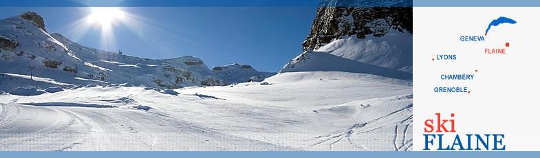 Flaine skiing from wwwskiflainecom